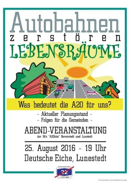 """© Bürgerinitiativen """"A 22 Nie"""" Beverstedt und Lunestedt"""